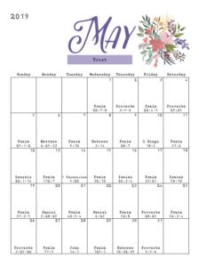 Christian Woman Magazine: May 2019 Calendar | Gospel Advocate