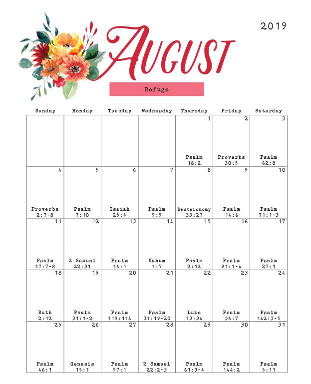 August 2019 Calendar.Christian Woman Magazine August 2019 Calendar Gospel Advocate